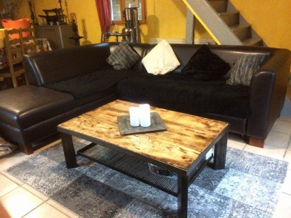 table basse de salon style indus par Falko
