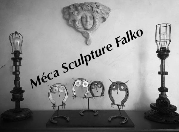 les chouettes sculpture par Falko