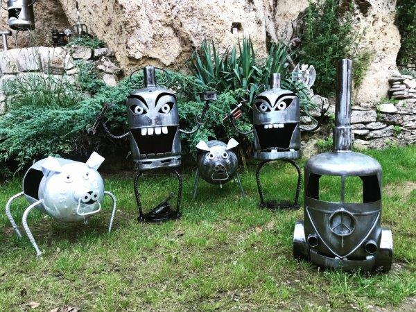 braseros de terrasses et jardins par Falko