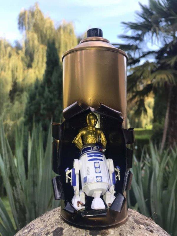 Bombe éclatée C-3PO et R2D2  par Méca Sculpture Falko