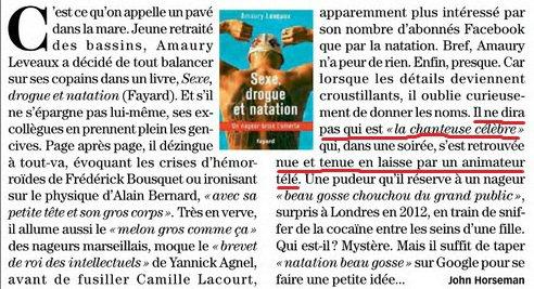 Sexe, drogue, et natation en équipe de France : extraits du livre d'Amaury Leveaux