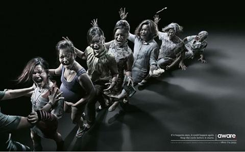 Affiches de l'association Aware de Singapour