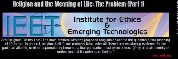 037 - Religion and the Meaning of Life: The Problem (Part 1)