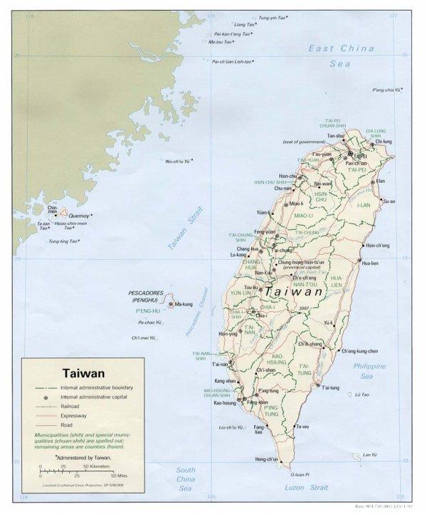 Géographie de Taiwain