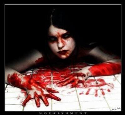 † Le sang... par un humain... †
