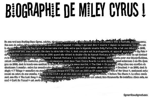 * www.CYRUS-NEW.skyrock.com ◊ Ta source pour tout savoir sur le quotidien de Miley Cyrus*