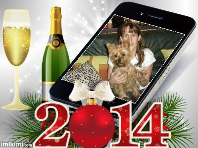 meilleurs voeux pour l'a 2014 pour mon amie uline1 et son petit toutou des gros bisous de lili2248