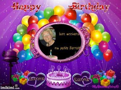 cadeau pour mon amie miau un joyeux anniversaire des gros bisous ton amie lili2248