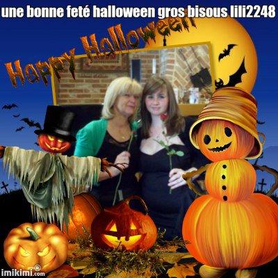 encore des montage pour mes amies et amis bonne feté halloween gros bisous