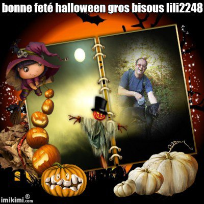 encore cadeau pour mes amies bonne feté halloween gros bisous
