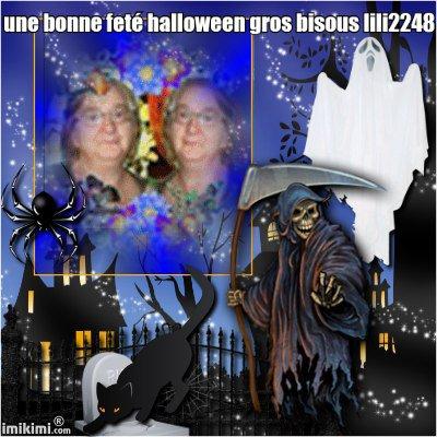 une bonne feté halloween mes amies grs bisous