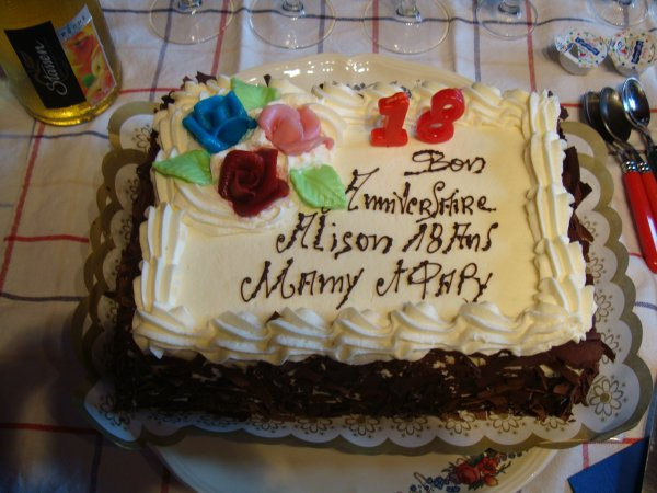quel photos de la anniversaire de ma petite fille aliosn pour c'est 18ans