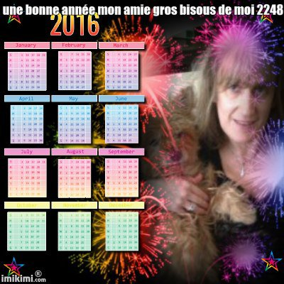 une trés bonne année 2016 a vous tous bisous de moi lili2248 cadeau des amies