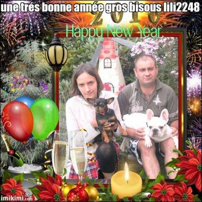 une trés bonne année a vous tous mes amies de moi lili2248 gros bisous