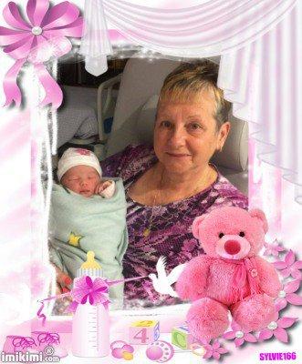 j'ai recu de mon amie Syvie 166 un grand merci pour ce joli cadeau pour ma petite fille Melissa  des gros bisous de nous deux
