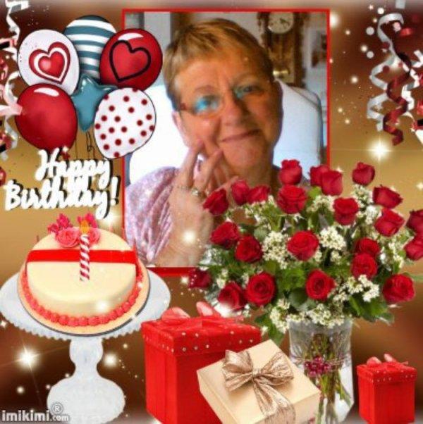 j'ai reçu ce joli cadeau pour mon anniversaire demain 22 de mon amie 49cibeline  un grand merci des gros bisous de moi