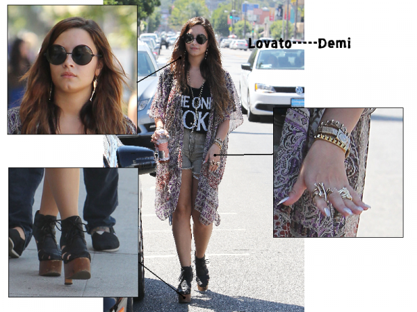 Demi faisnat du shopping a Los Angeles! Top ou Flop??!