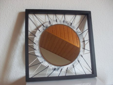 Quadro redondo preto com espelho cadre rond noir avec for Miroir cadre metal noir