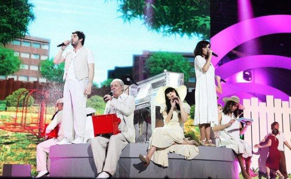 Quelque photos du concert des enfoirés 2011 qui sera en diffusion le 11 Mars sur TF1 !