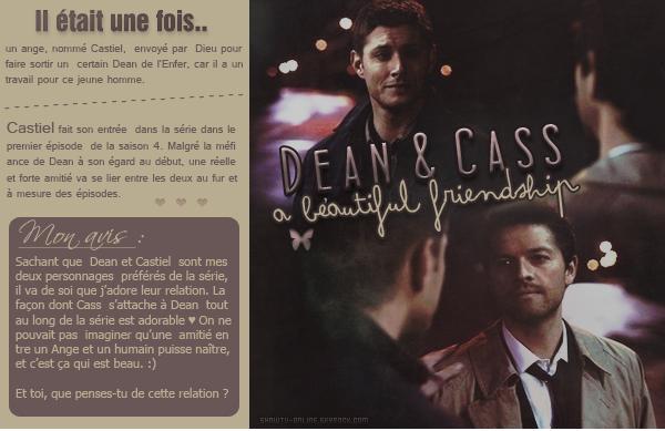 . #_-D o s s i e r_-P e r s o n n a g e s Mes deux chouchous de Supernatural : Dean & Castiel. .
