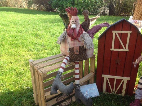 Et la..... alors là ...... je vous montre les jolies poulettes ....elle sont trop craquantes ...et la maison que mon grand frère m'a faite c'est pour y ranger les livres.je l'ai juste peint .