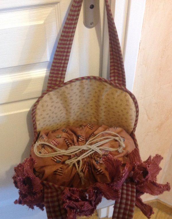 Voila un nouveau sac , une petite bouille qui se prénomme Annie la ou je peux y mettre la bourre et c'est mieux qu'un sac plastique lol