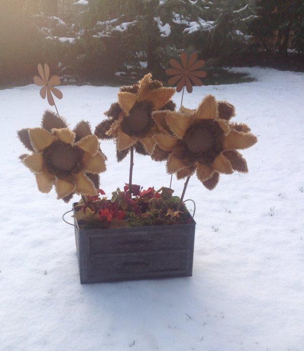 Jolie fleurs très country Comme j'aime 💕💕💕💕