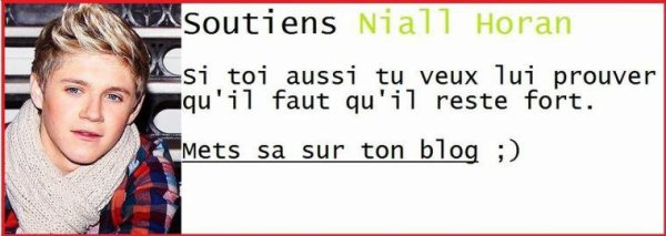 Toi aussi..Soutient Niall ! <3