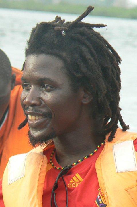 Campos en el barco rumo a la isla de carabane