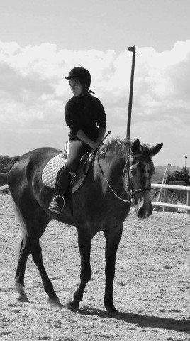 Etre heureux à cheval, c'est être entre ciel et terre, à une hauteur qui n'existe pas..Le Paradis Sur Terre..