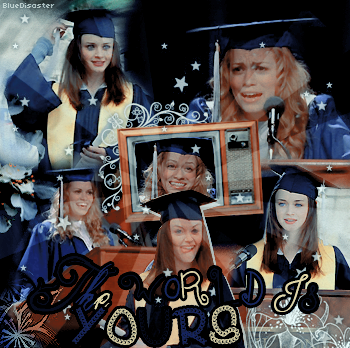 • Bluedisaster » Haley James Scott & Rory Gilmore Speech •  → .Création. .Décoration. .Texte.