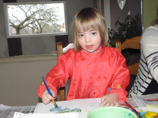 Atelier peinture avec ma cousine Lucie