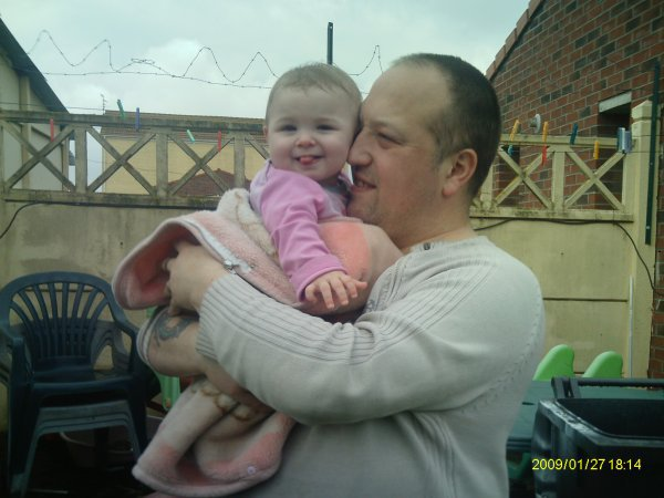ma petite fille dorianne et son pére david