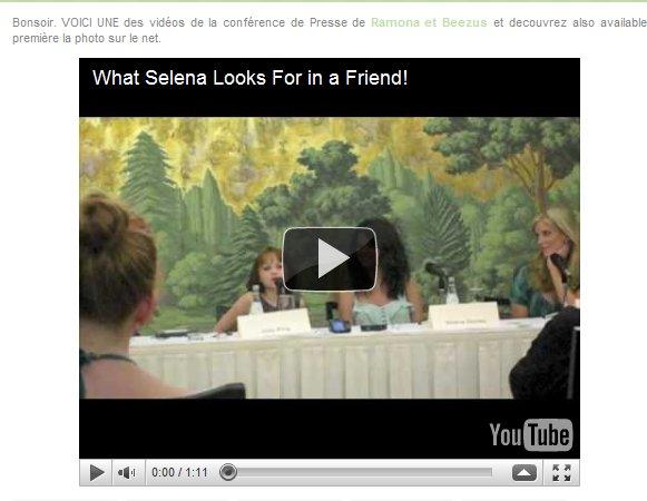 Selena photo shop & video de Ramona And Beezus ! lol