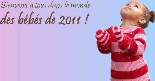 Bienvenue dans le blog des bébés 2011