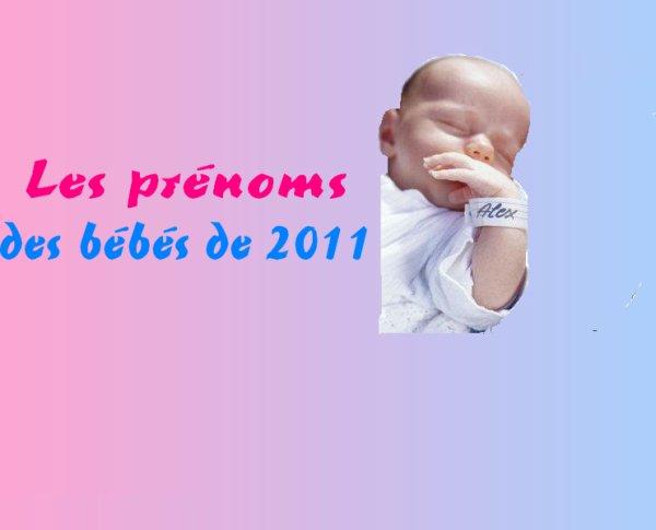 Les prénoms des bébés de 2011