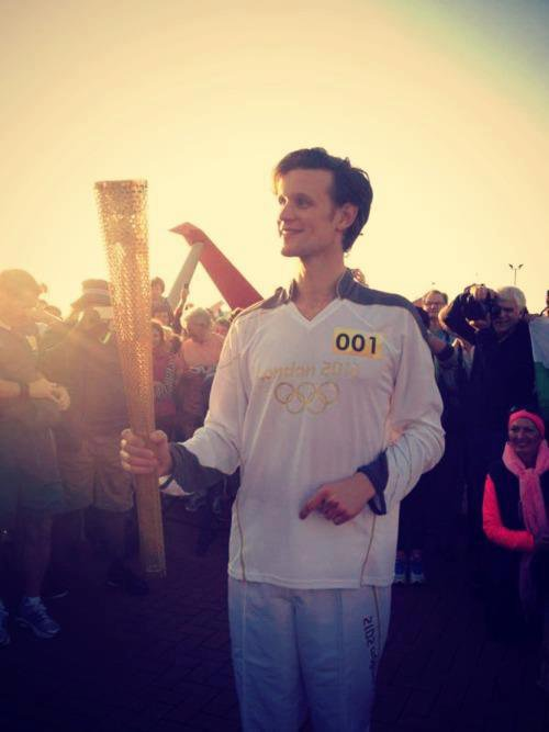 Matt Smith and the Olympic Torch