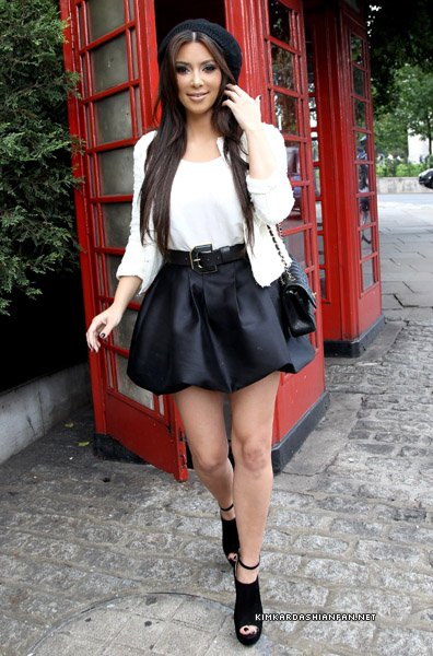 Kim Kardashian le 12 septembre à Londres