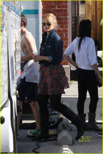 Dianna Argon sur le tournage de Glee le 4 novembre