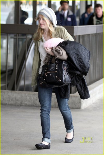 Dakota Fanning le 2 janvier à LAX