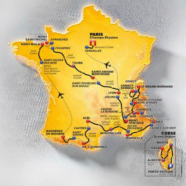 Le parcours du Tour 2013.