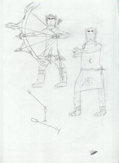 voici un soldat et magicien elfes dessin de coco