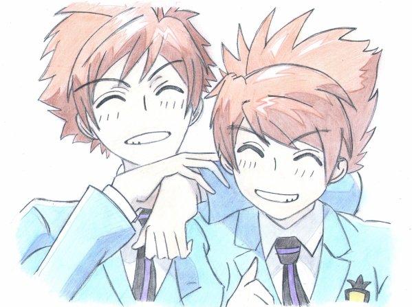 Les jumeaux Hikaru et Kaoru (Host club)