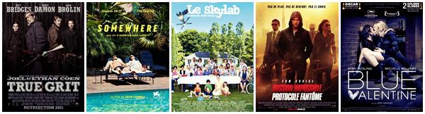 LES FILMS DE L'ANNEE Le top 20 des films de 2011 par Studio-Deuxième