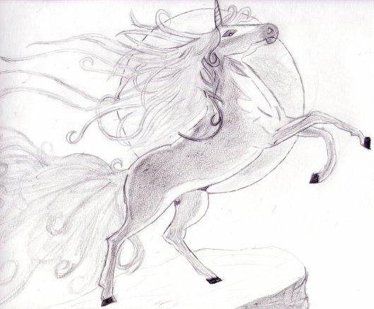 dessin manga licorne