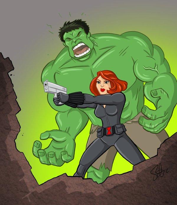 avenger bruce and natasha