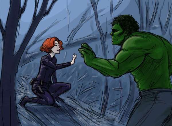 avenger bruce and natasha