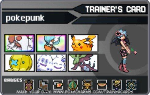ma carte de dresseur officiel de pokemon Y