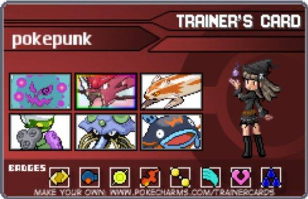 ma carte de dresseur officiel de pokemon Rubis Oméga