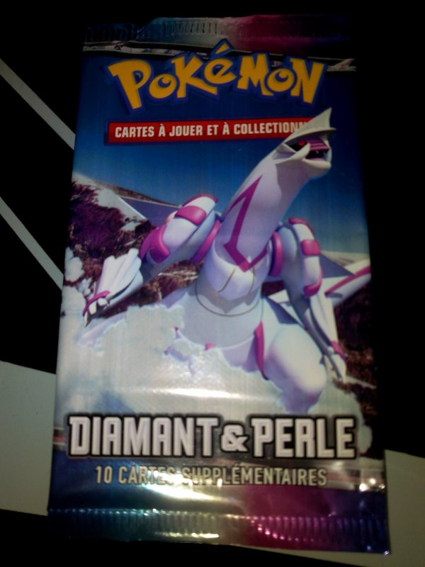 ma collection de booster pokemon Diamant et perle